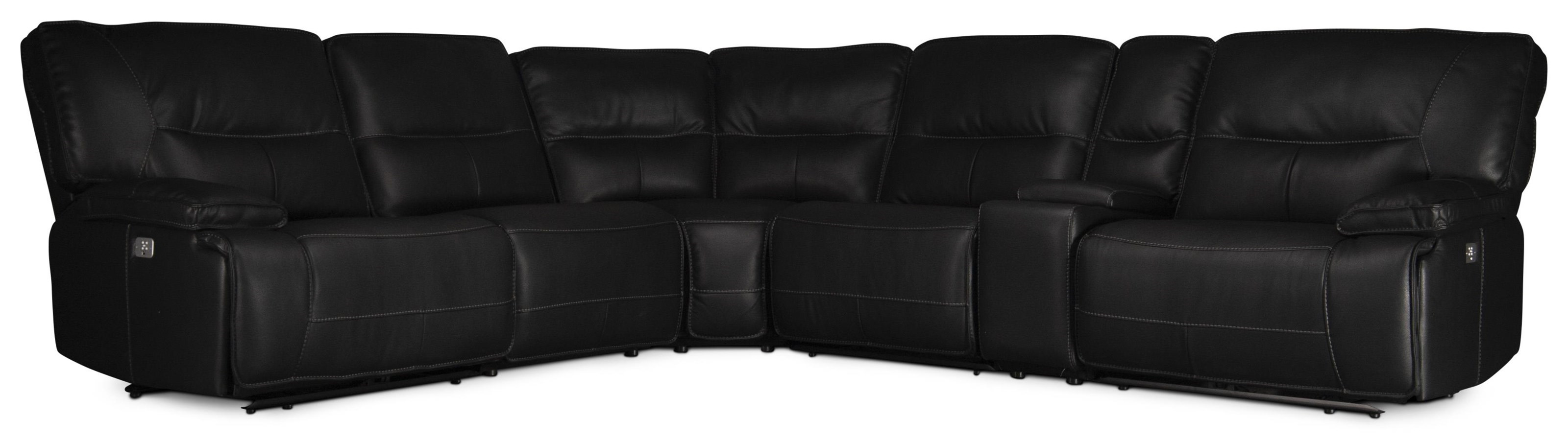 spartan spartan power sectional sofa