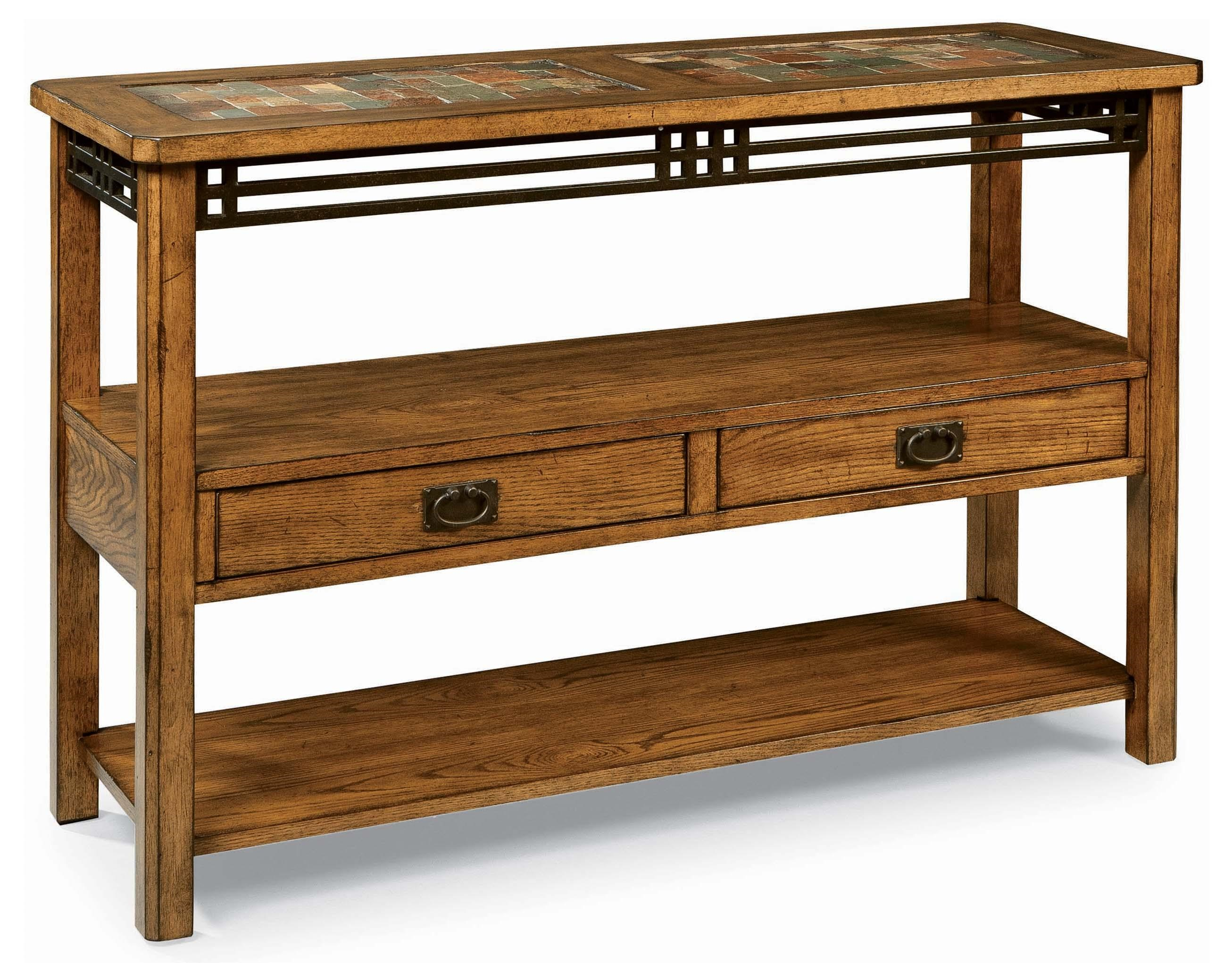 Peters Revington American Craftsman Oak Sofa Table With