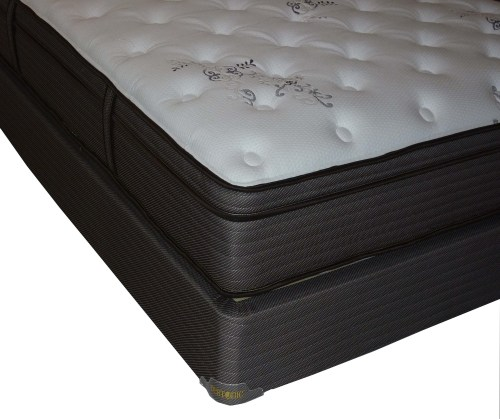 Restonic Clarion Dual Sided Queen Plush Firm Mattress And Foundation