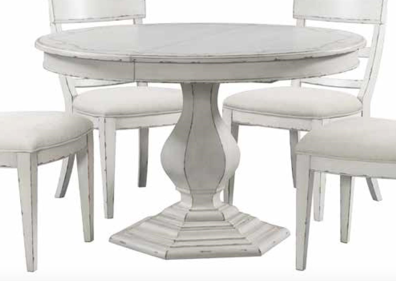 Riverside Furniture Bella Grigio Round Dining Table With Stencil Top Reeds Furniture Kitchen Tables