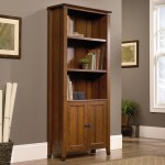 Sauder Carson Forge Rustic Style Library Bookcase With Doors