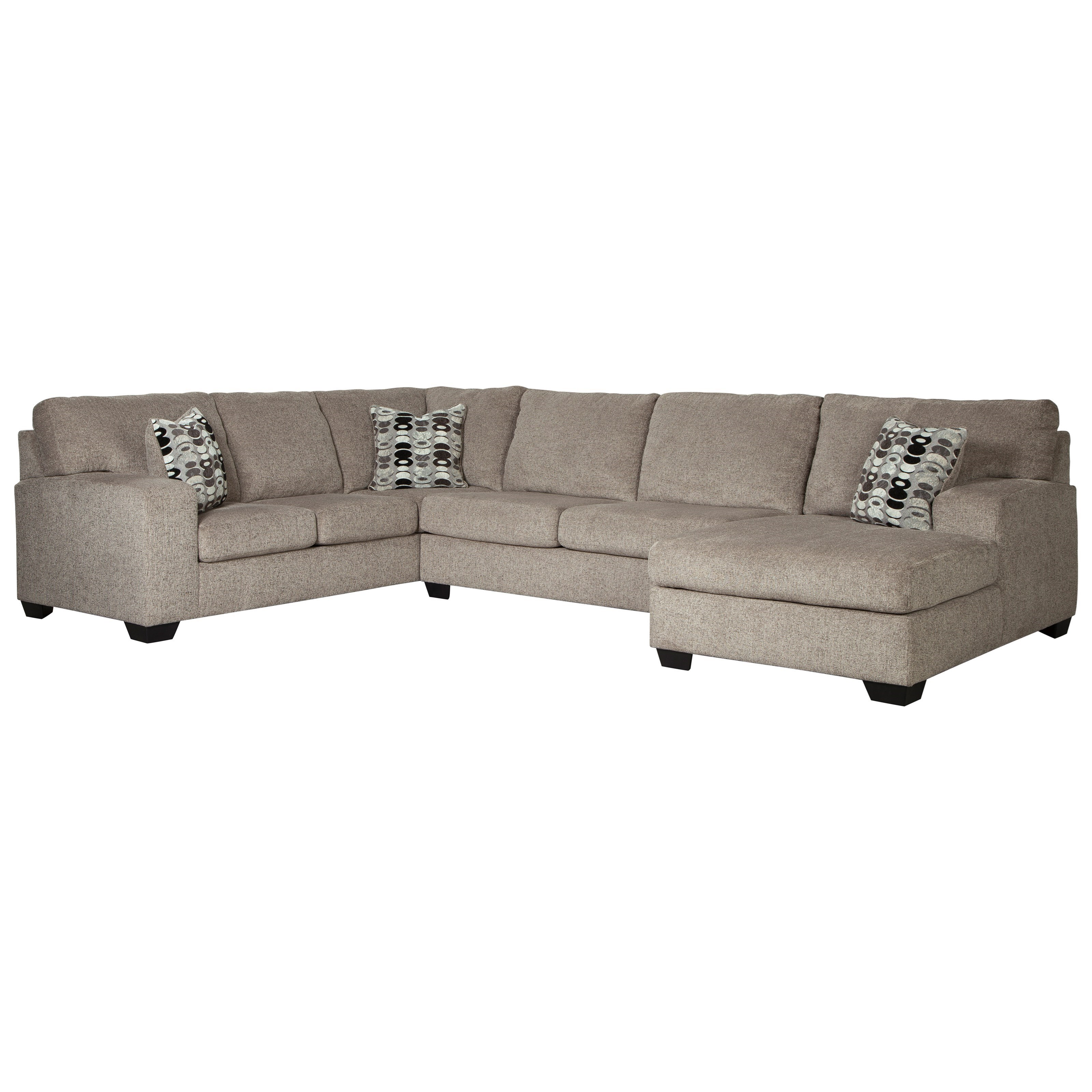 Signature Design By Ashley Ballinasloe Contemporary 3 Piece Sectional With Chaise Furniture