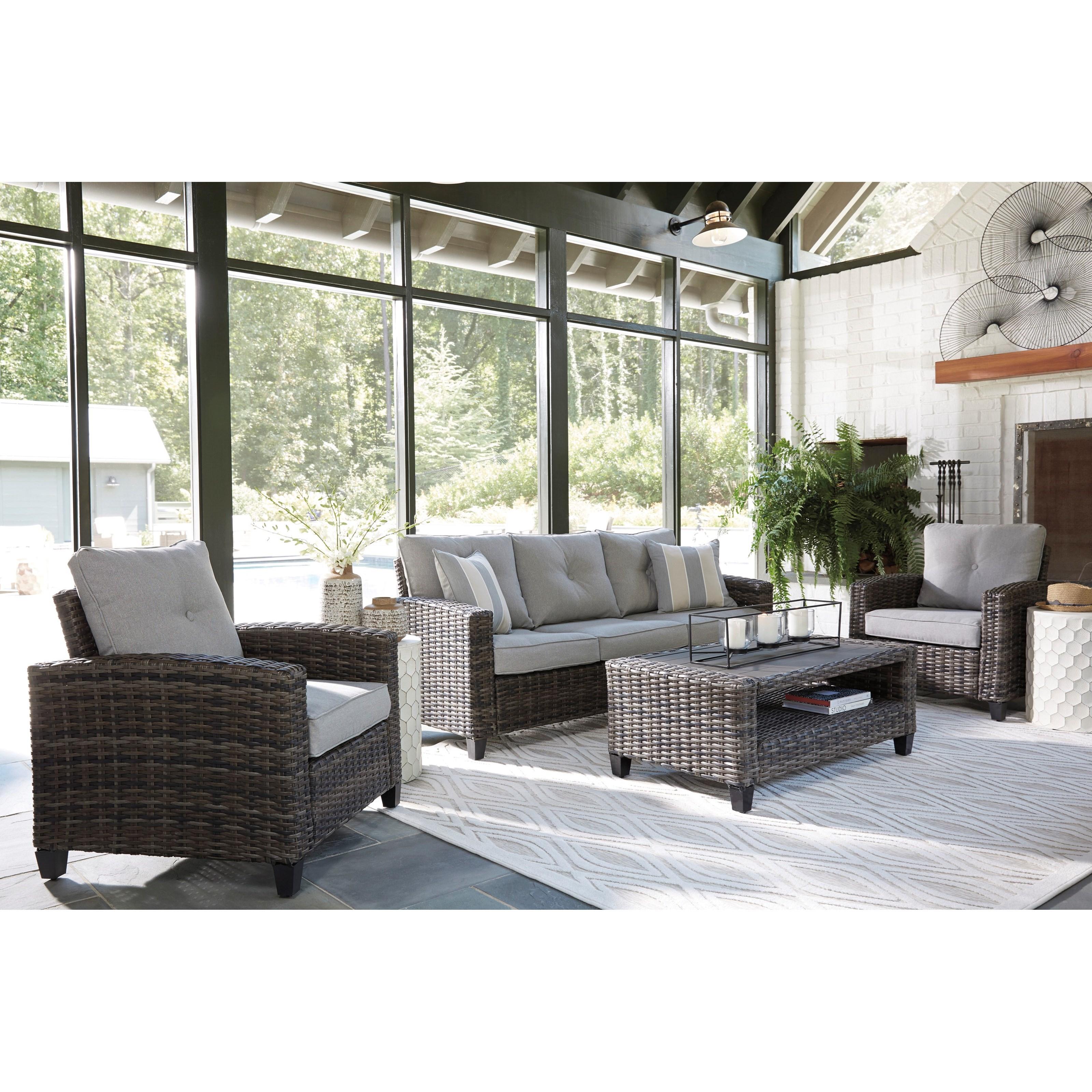 westridge contemporary outdoor conversation set at belfort furniture