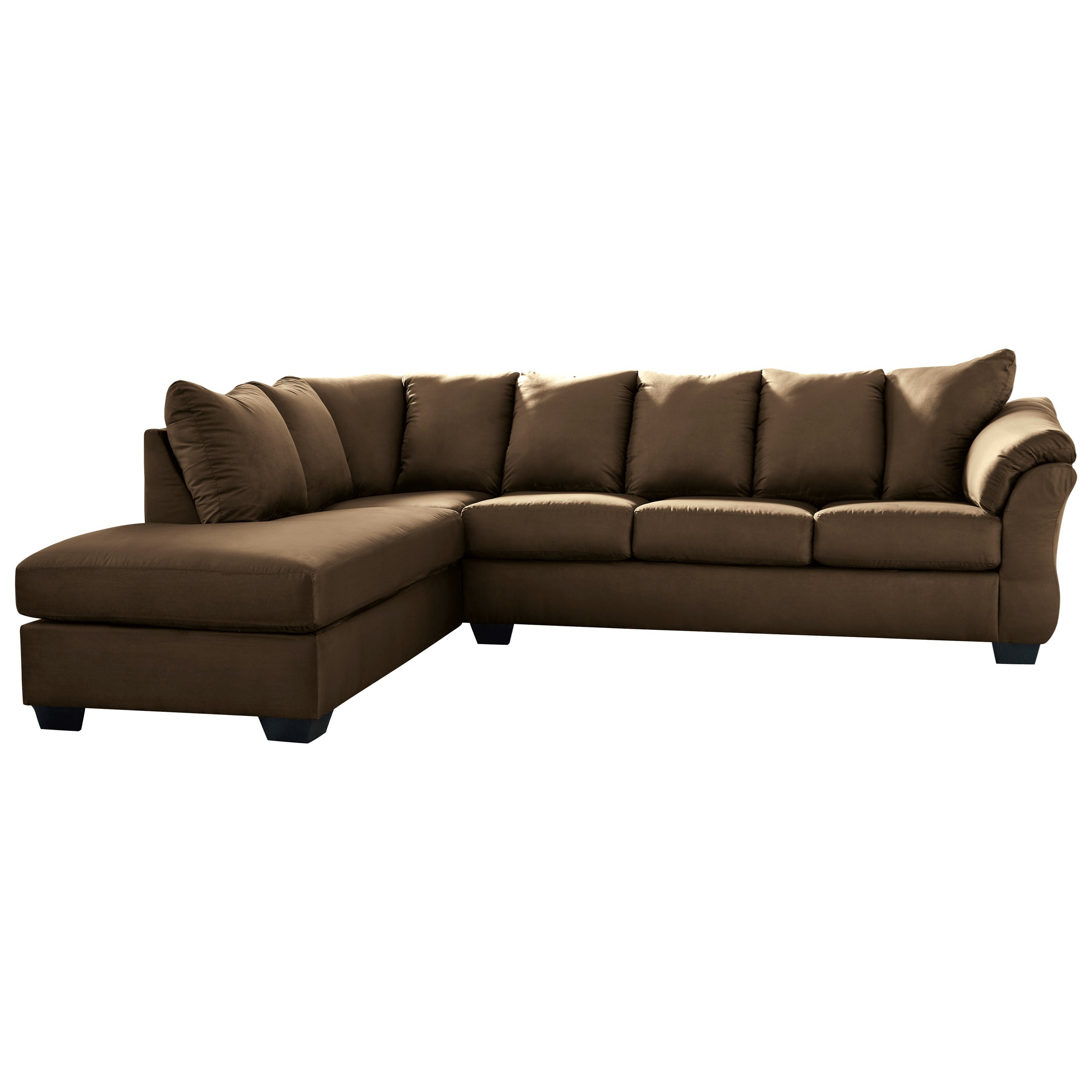 2 piece sectional sofa with left chaise