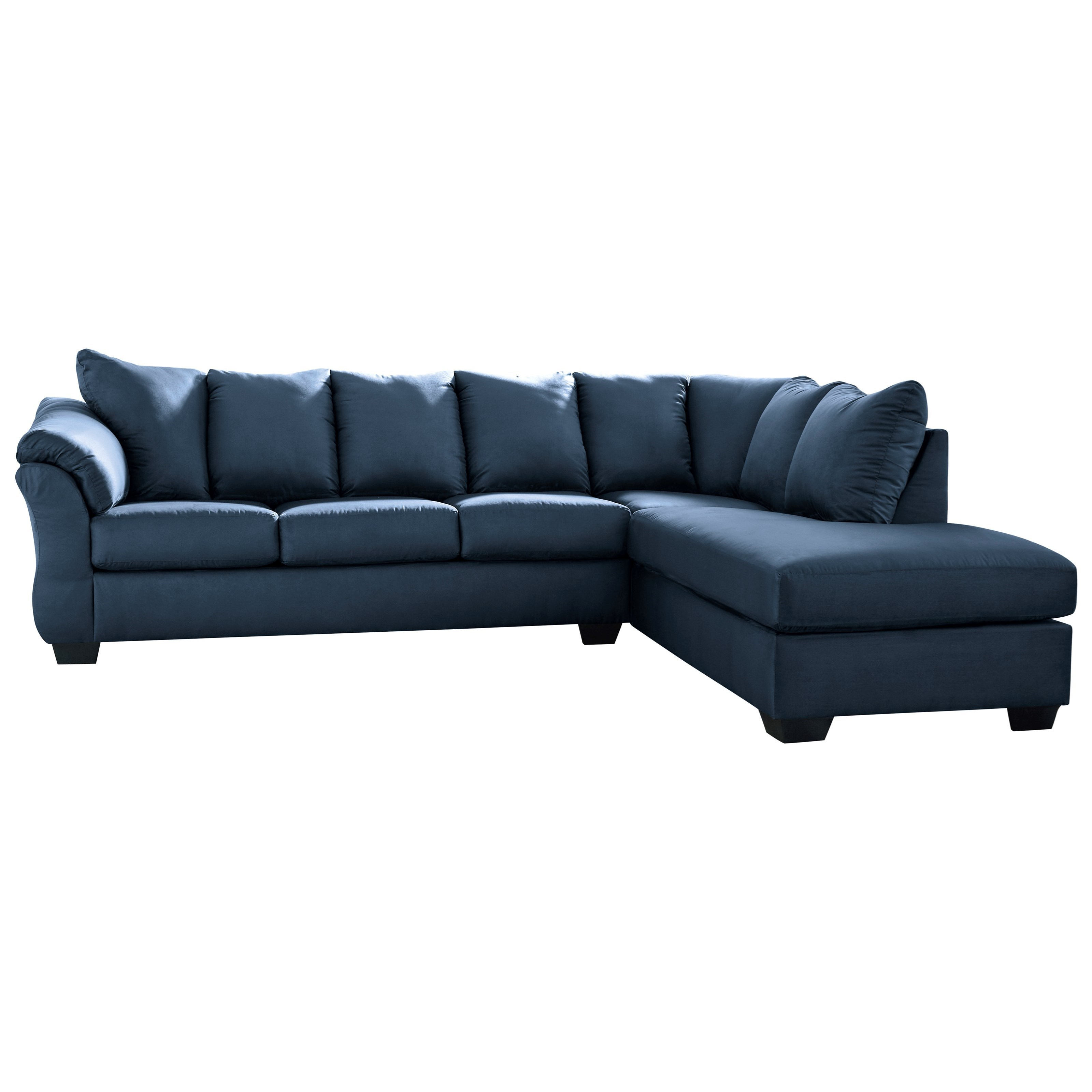 darcy blue 2 piece sectional sofa