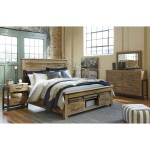 Signature Design By Ashley Sommerford King Panel Storage Bed With Barn Doors Royal Furniture Platform Beds Low Profile Beds