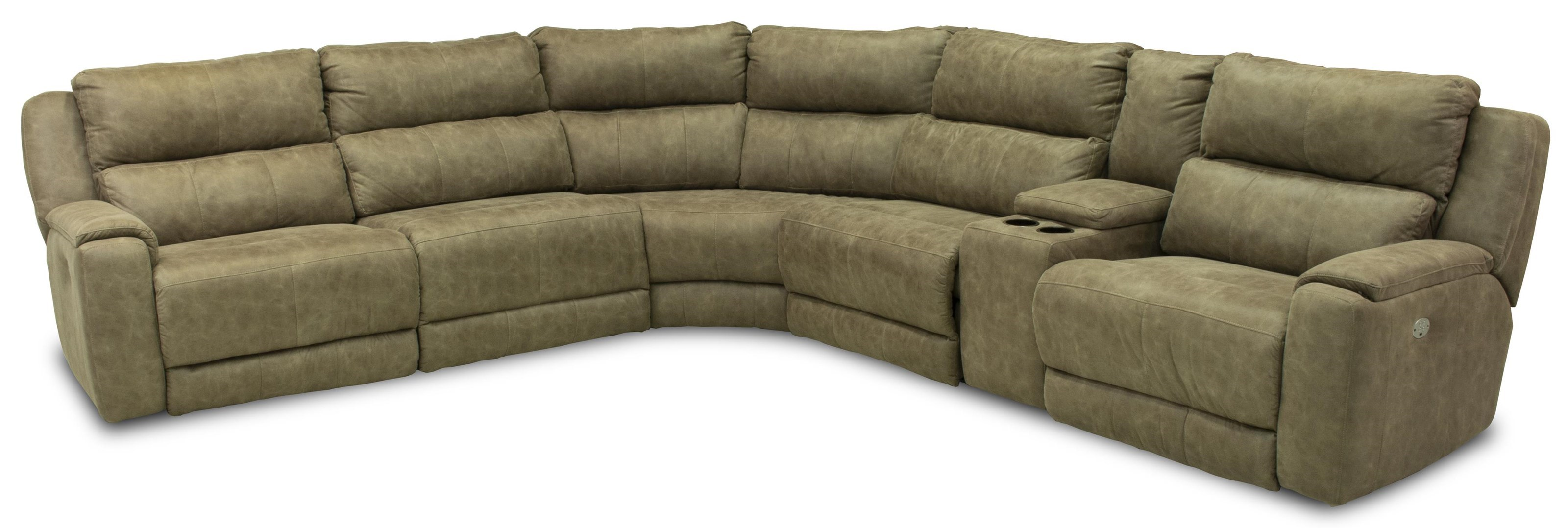 dazzle sectional w cup holders and power headrests