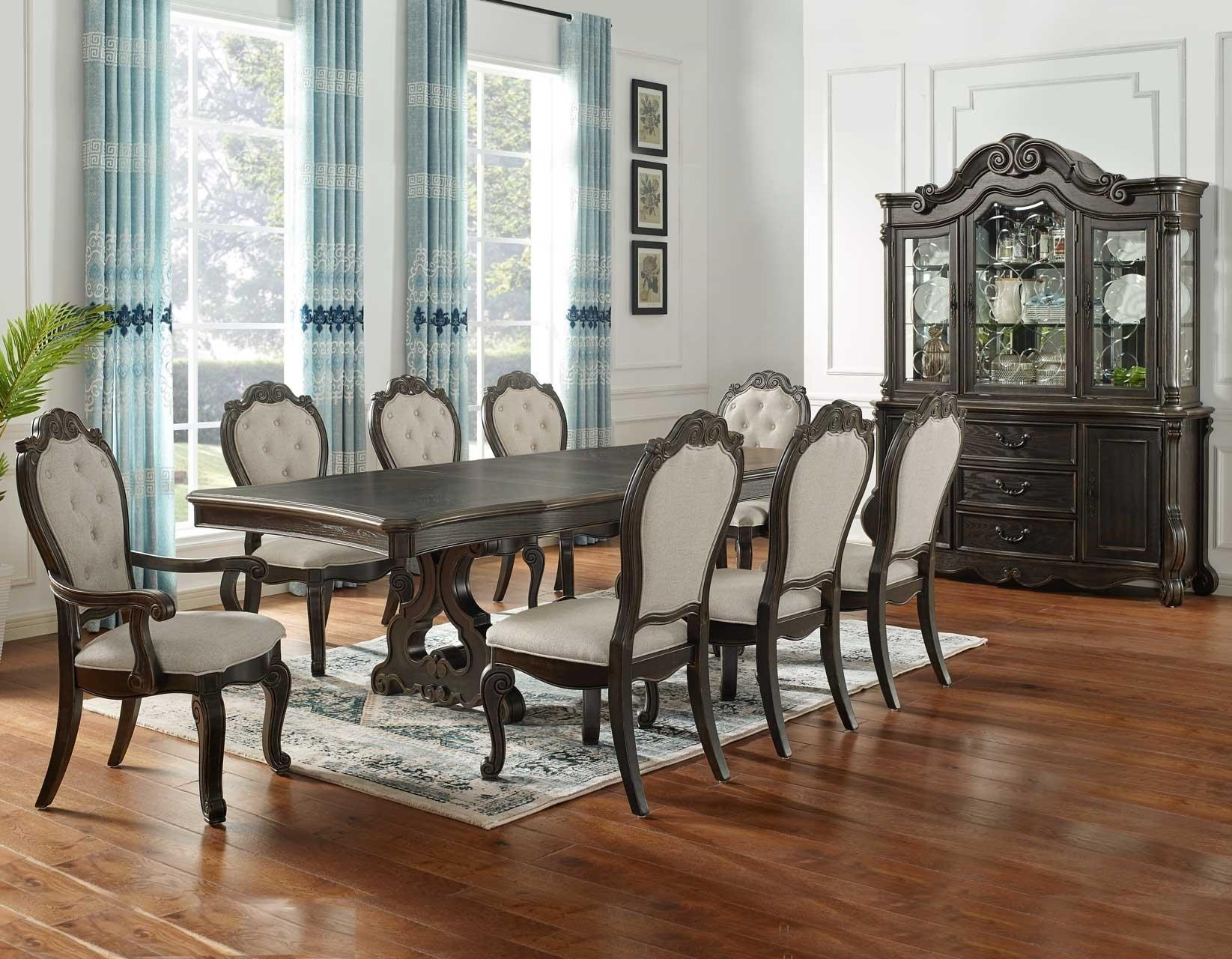 Steve Silver Rhapsody Formal Dining Table Seats Up To 10 Royal Furniture Dining Tables