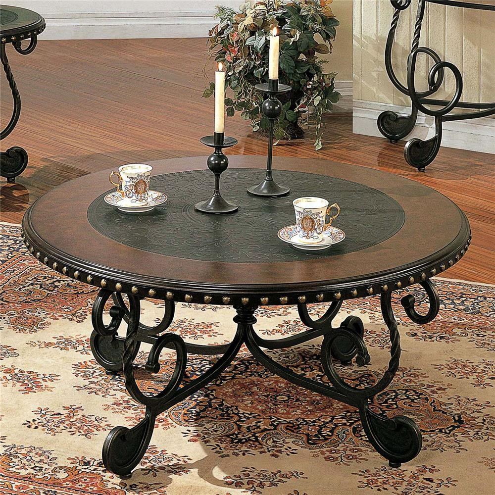 rosemont round metal cocktail table
