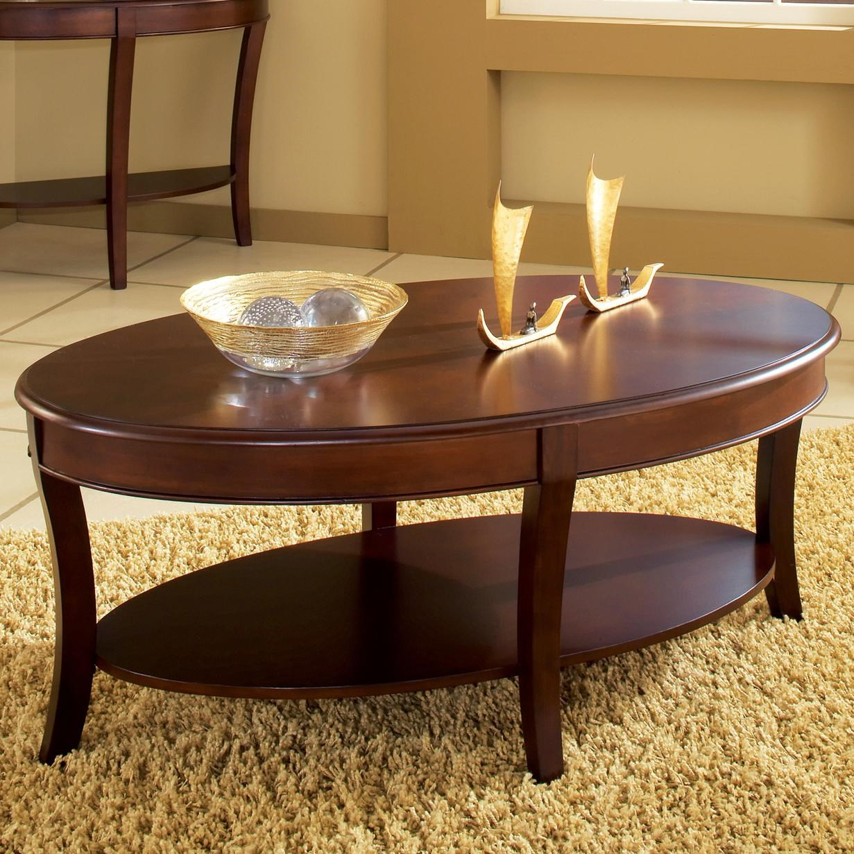 Steve Silver Troy Cocktail Table With Open Lower Shelf Walkers Furniture Cocktail Or Coffee