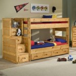 Trendwood Bunkhouse Twin Over Twin Wrangler Staircase Bunk Bed With Storage Conlin S Furniture Bunk Beds
