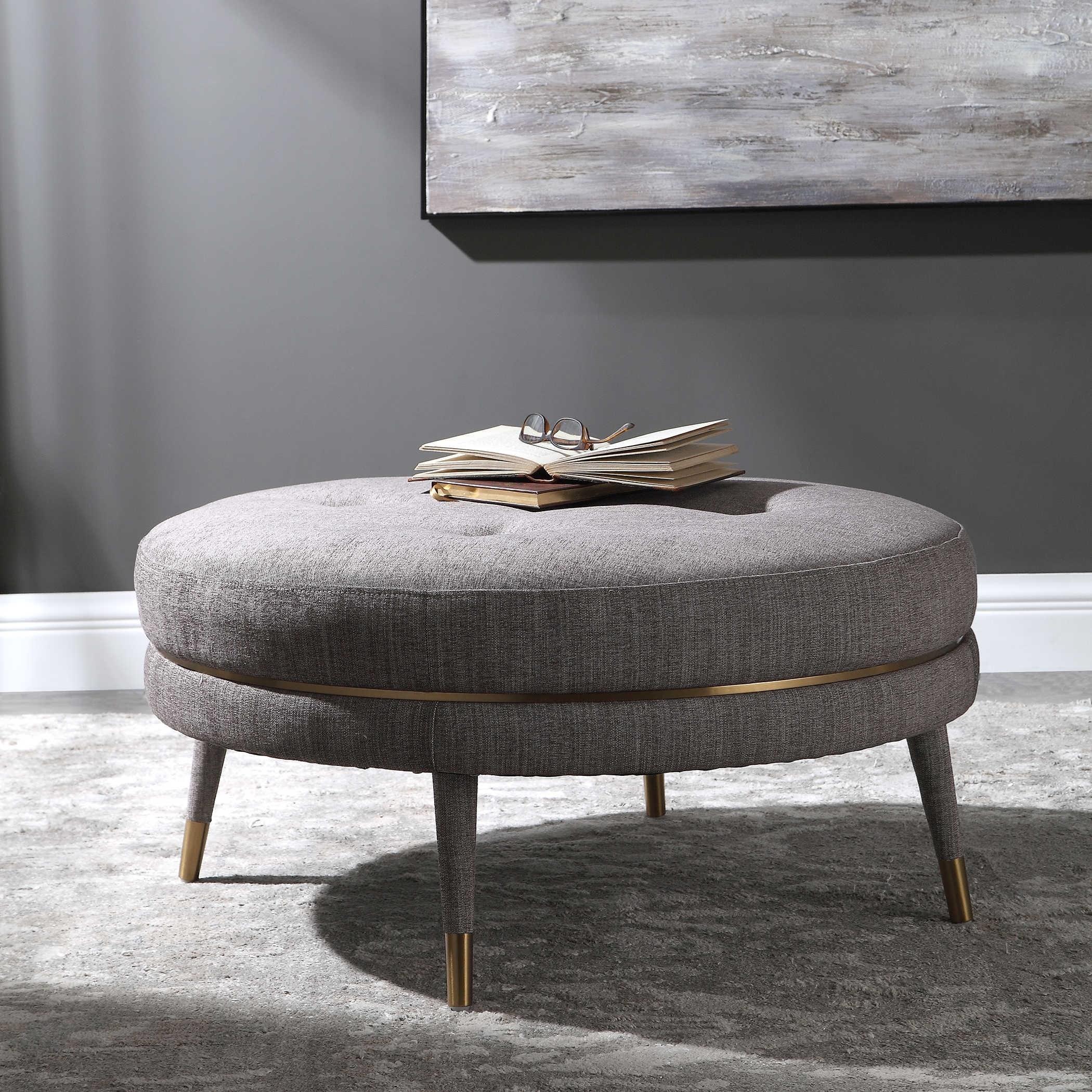 accent furniture ottomans blake modern taupe ottoman