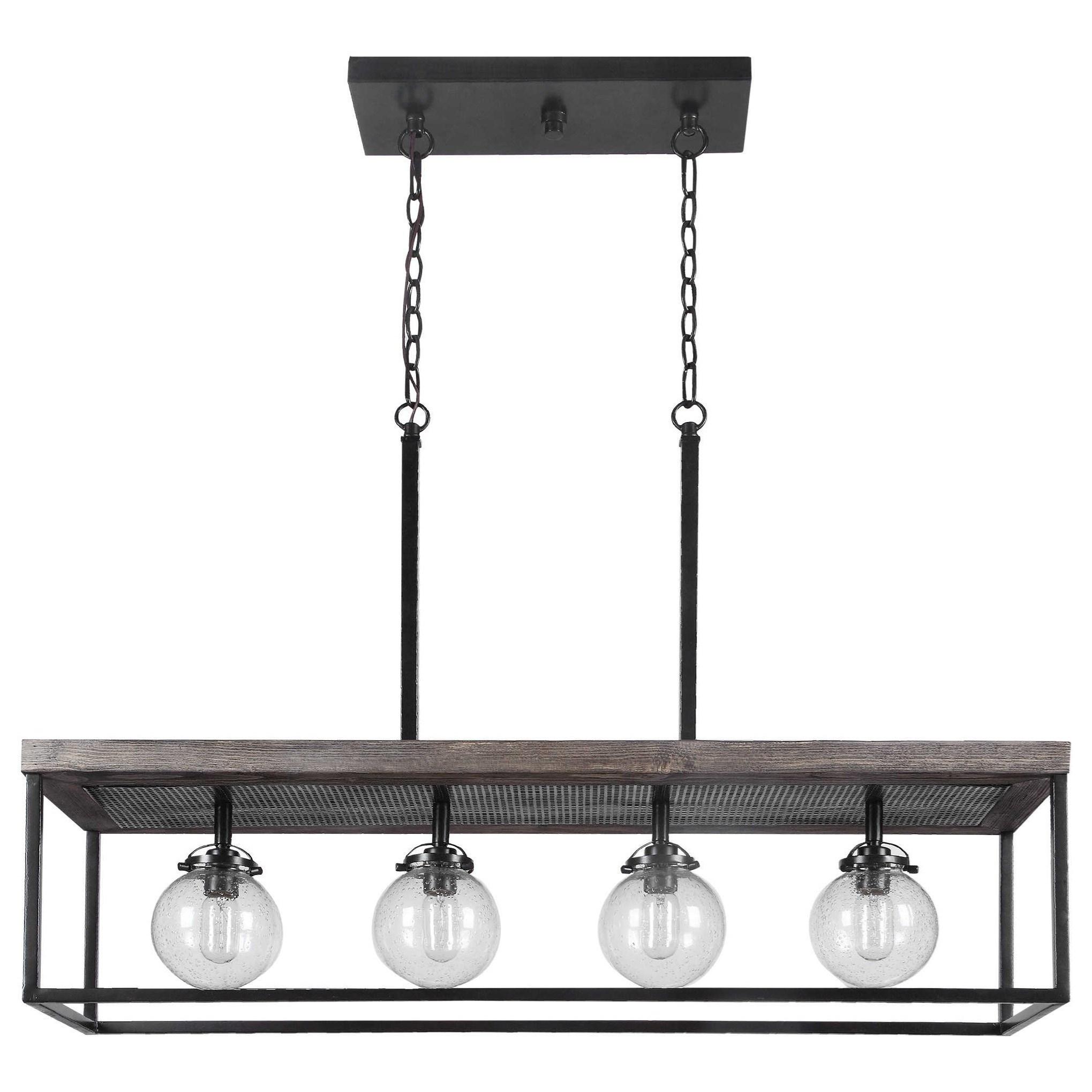 lighting fixtures pendant lights pearsall 4 light industrial island light