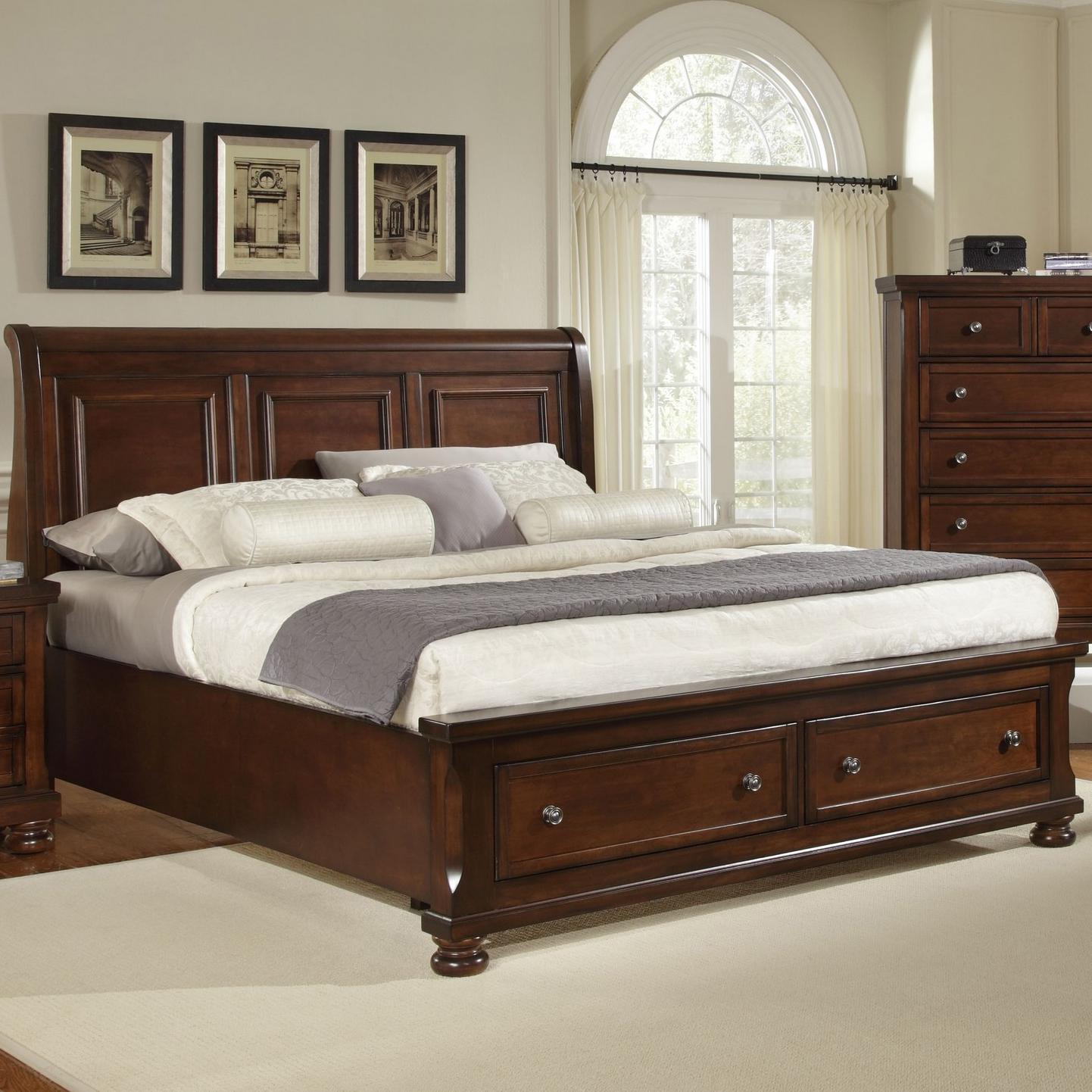 harrington king storage bed with sleigh headboard