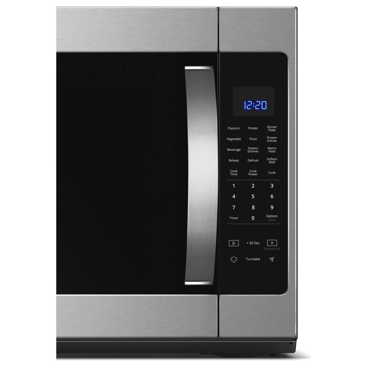 microwaves whirlpool 2 1 cu ft over the range microwave