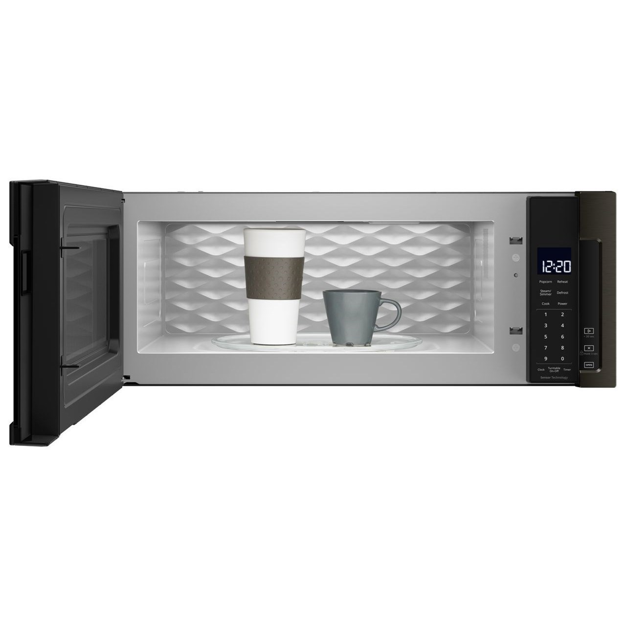 microwaves whirlpool 1 1 cu ft low profile microwave hood combination by whirlpool at furniture and appliancemart