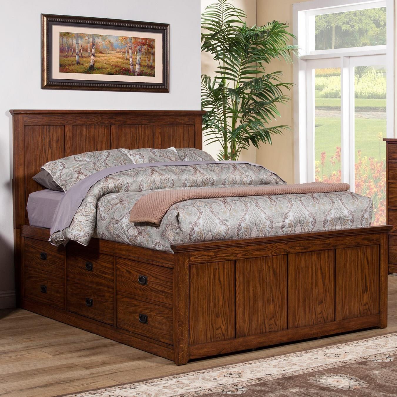 colorado california king storage bed