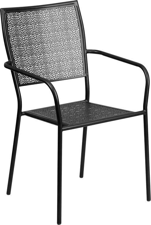 metal indoor outdoor chairs black indoor outdoor steel patio arm chair w
