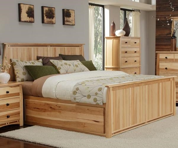 AAmerica Adamstown Queen Solid Hickory Panel Bed With