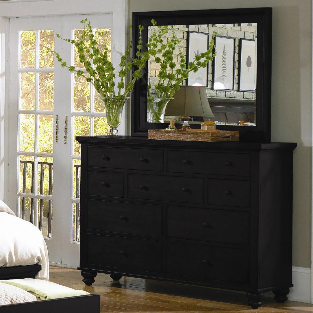 Aspenhome Cambridge 9 Drawer Chesser Amp Mirror Combo Walkers Furniture Dresser Amp Mirror