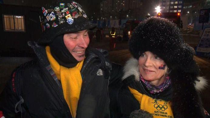 Matt's Graham's parents and grandparents witnessed his medal winning final run (9NEWS)