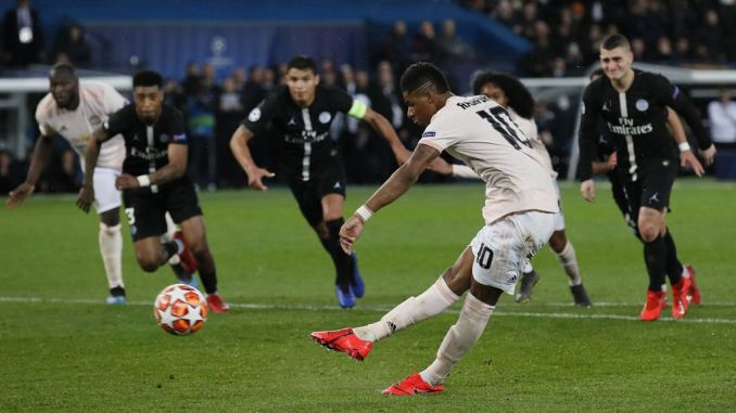 Manchester United UCL VAR penalty vs PSG video | Marcus Rashford scores to  seal historic win