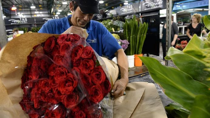 While florists and supermarket chains have bargain deals, customers now also value the convenience of ordering bouquets online (AAP).