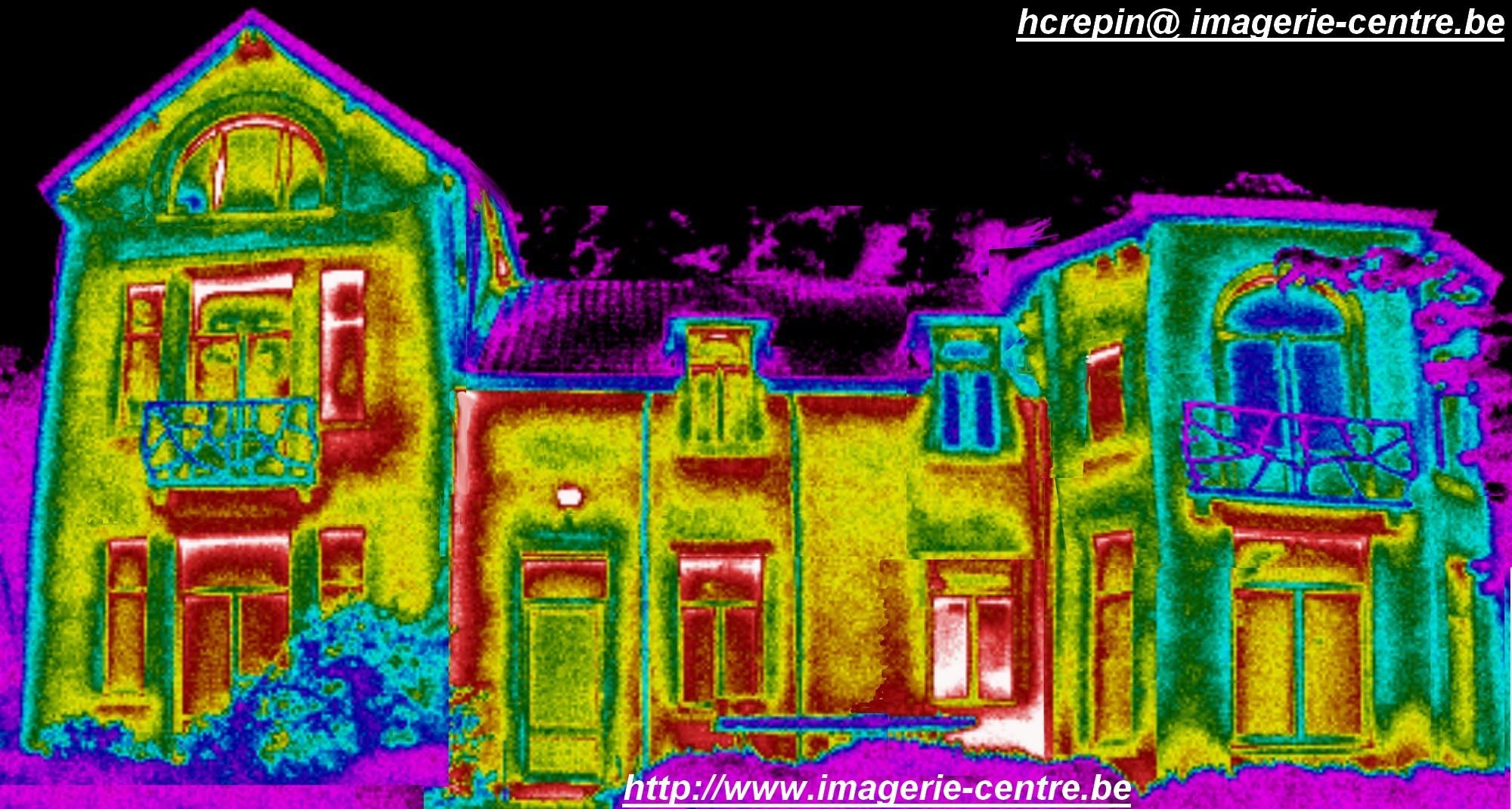 Thermographie d'une maison en Brabant, Wallonnie, Belgique