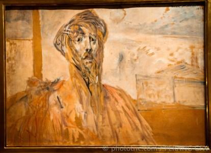 Self portrait sketch. Oil on canvas