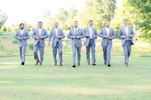 Groomsmen photographed during a wedding at Westfields Golf Club by Erin Julius of Imagery by Erin.