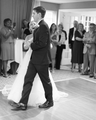 A bride and groom's first dance at Kimpton Lorien Hotel and Spa in Old Town Alexandria