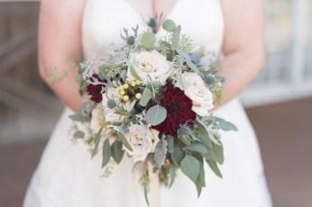 A bride's bouquet from Honey Bee's Florist in Staunton, Virginia.