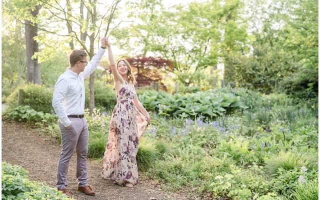 engagement session at Brookside Gardens