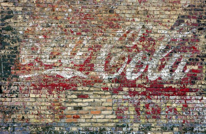 Coca Cola wall ad