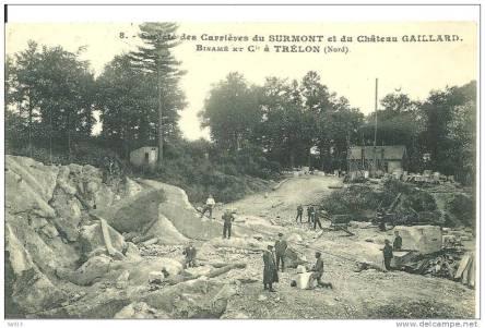 8 - Société Des Carrières Du SURMONT Et Du Chateau GAILLARD .  Binamé Et Cie à TRELON (Nord) - Autres Communes