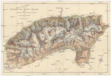 carte de la chaine du mont blanc