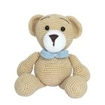 Ursinho urso azul menino crochê bebê decoração