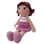 Boneca crochê lilás