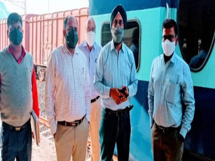 डीआरएम मनेन्दर उप्पल ने निरीक्षण किया। - Dainik Bhaskar