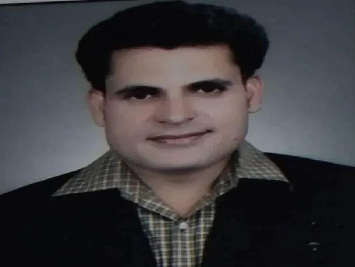 हादसे के शिकार बने अवधेश दुबे (38)। - Dainik Bhaskar