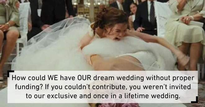Image result for This Bride Canceled Her Wedding After Guests Refused to Pay Her $1,500 Attendance Fee