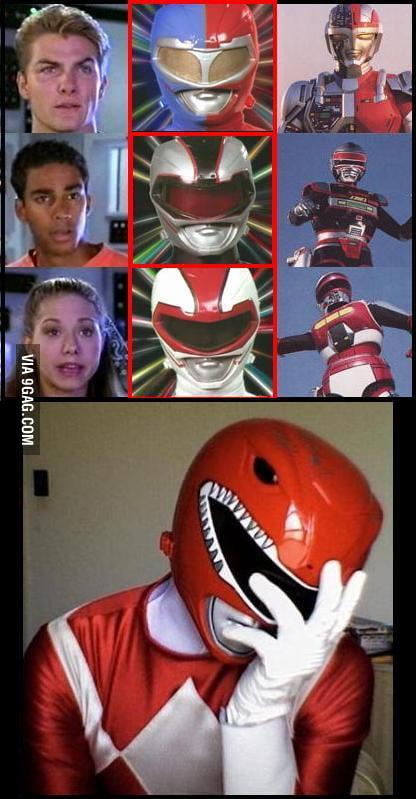 Vr Troopers Recolored Red Ranger S Helmet 9gag