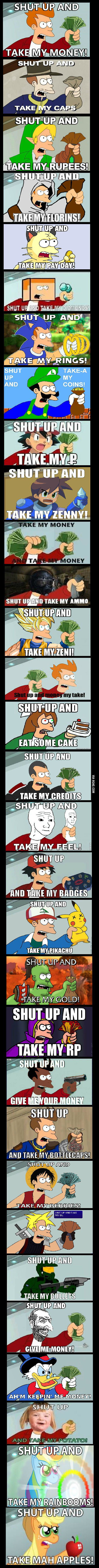Compilation Of Fry Meme Shut Up And Take My Money 9gag