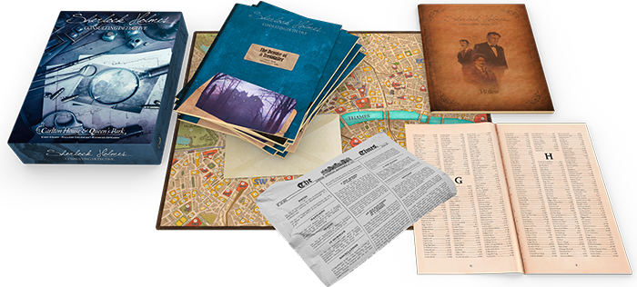 Image result for Sherlock Holmes Consulting Detective: Carlton House & Queen's Park board game
