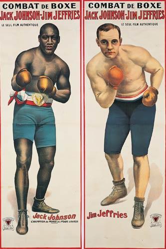 Combat de Boxe/Jack Johnson-Jim Jeffries: Two Posters. 1910. | Rennert's Gallery