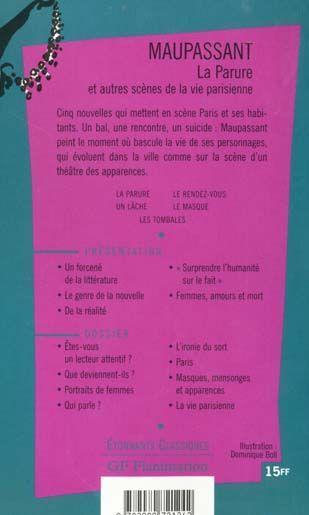livre la parure et autres scenes de la vie parisienne guy de
