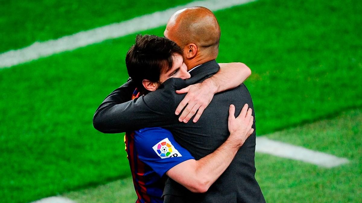Lionel Messi Pep Guardiola Barcelona 2012