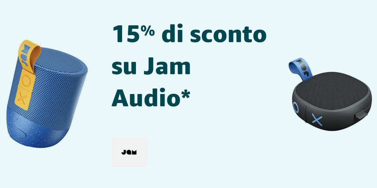 15% di sconto su Jam Audio