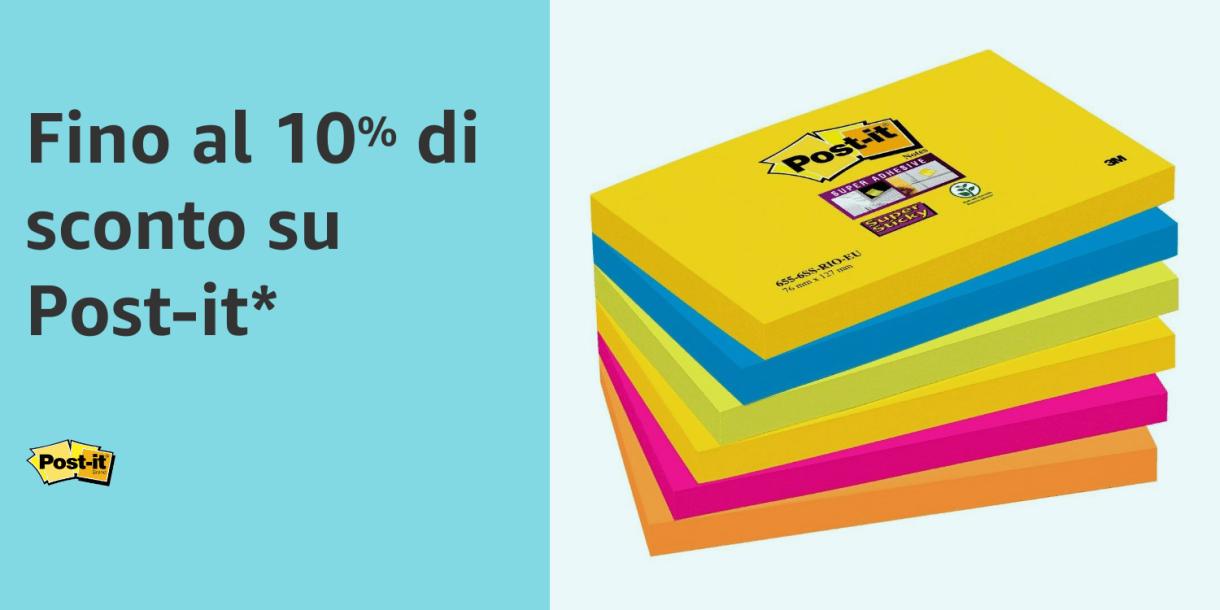 10% di sconto su Post-it