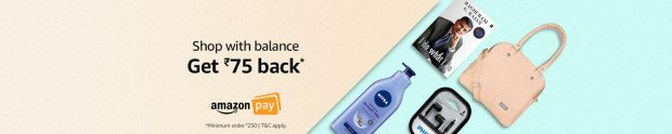 Shop with balance get Rs.75 back